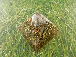 1 Prosperity Gold Small Pyramid Crystal Orgone Generator Ene