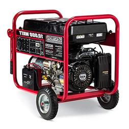 Gentron GG10020C 10000 Watt Gas Portable Generator with Elec