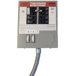 Generac 6376 30-Amp 6-10 Circuit Indoor Manual Transfer Swit