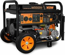 WEN 11,000-W Portable Hybrid Dual Fuel Gas Electric Start Ge