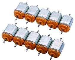 Yeeco 130 DC Motor Mini Electric Motor, 10 PCS 15000 RPM DC