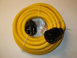 25 Ft Generator Extension Cord  4 Prong Power Cable 10 4 30