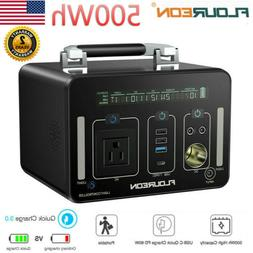 500Wh Portable Outdoors Power Generator Lion Charger Power B