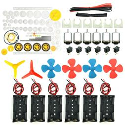 EUDAX 6 Set Rectangular Mini Electric 1.5-3V 24000RPM DC Mot