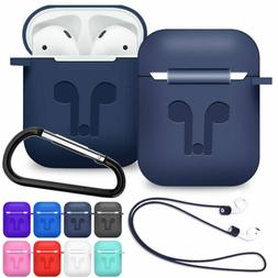 For AirPods 2nd Generation 2019 Silicone Protective Skin wit