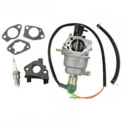 HURI Carburetor with Gasket Spark Plug for Champion Power Eq