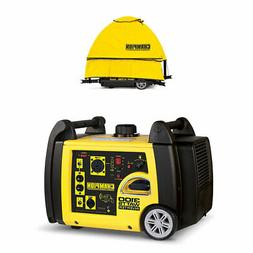 Champion 3100 Watt Portable Electric Start Generator w/ Stor