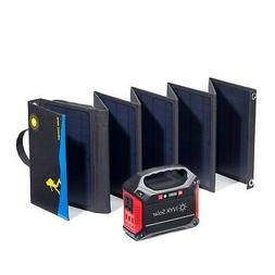 Compact Solar Generator: 60W Solar Panel and 155Wh Lithium I