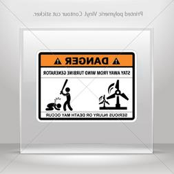 Decal Stickers Funny Stay Away From Wind Turbine Generator M