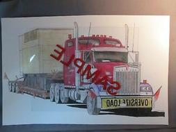 Drawing - Kenworth W-900L, 4 axle with RGN, Lowboy, Generato