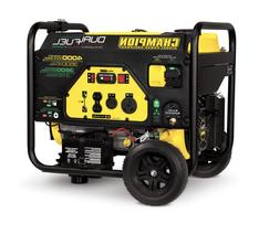 Dual Fuel Generator with electric start 3500/4000w Champion