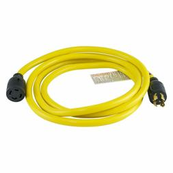 Houseables Generator Cord, Electric Extension Wire, 4 Prong,