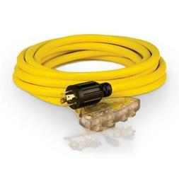 Generator Power Cord 25 ft. 240 Volt Thermoplastic CPE Jacke