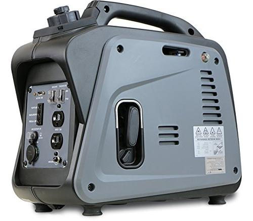 Dirty Hand 1200W Generator Gas Powered, 120V Outlets x2, x1, x1