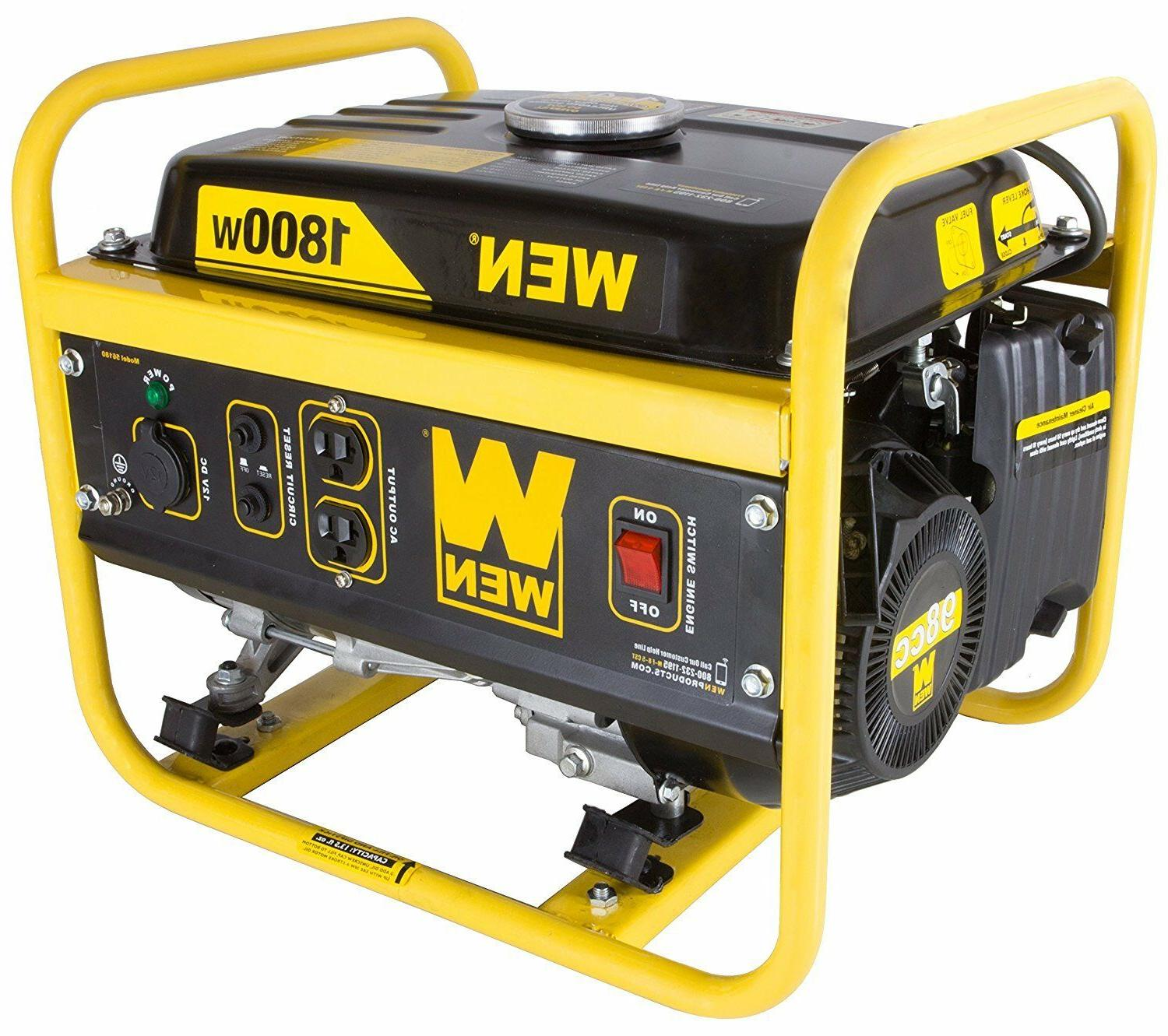 1800 watt generator portable gasoline carb compliant