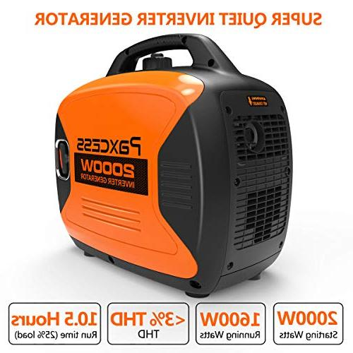 PAXCESS 2000 Inverter Powered RV Eco-Mode, CARB Complaint, Ready 120V 30A/20A AC Outlet/USB P2000i