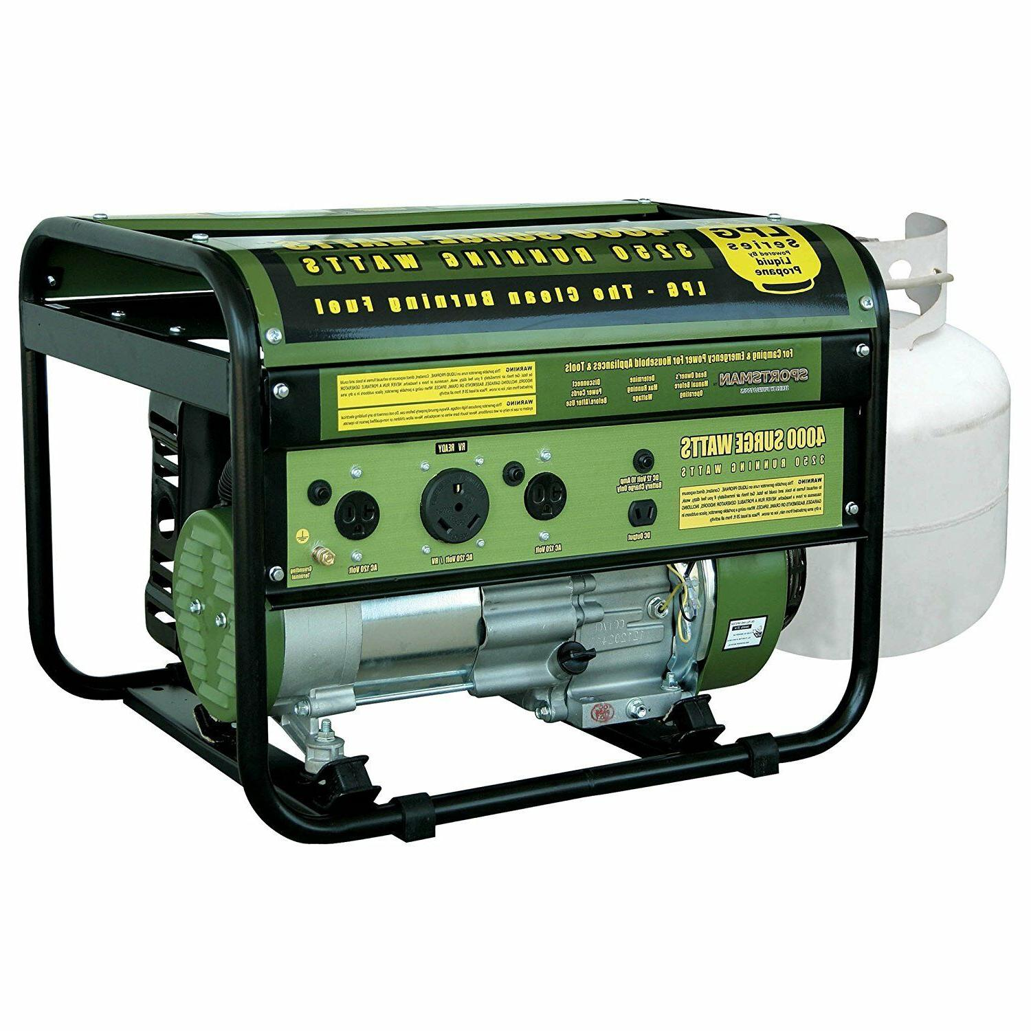 4000 watt portable quiet propane gas powered
