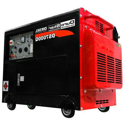 DuroStar DS7000Q 6,500 Watt Enclosed Diesel Portable Generat