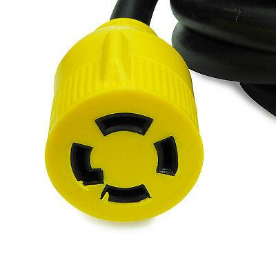 Generator Cord 15 Ft Power Cable 10 4 Amp Adapter Plug