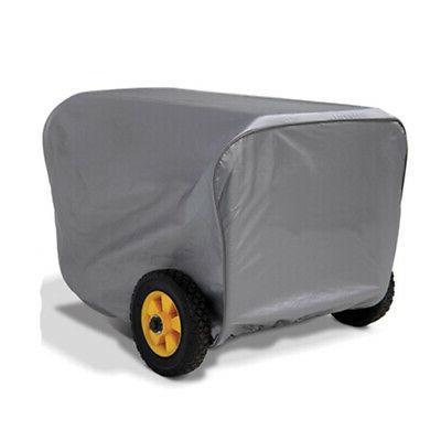 grey portable power generator cover storage