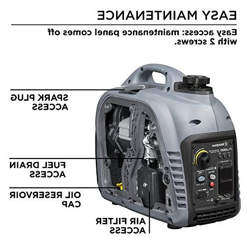 Westinghouse iPro2500 Portable Inverter Generator - Rated Watts and 2500 Peak Watts Gas Powered OSHA and CARB