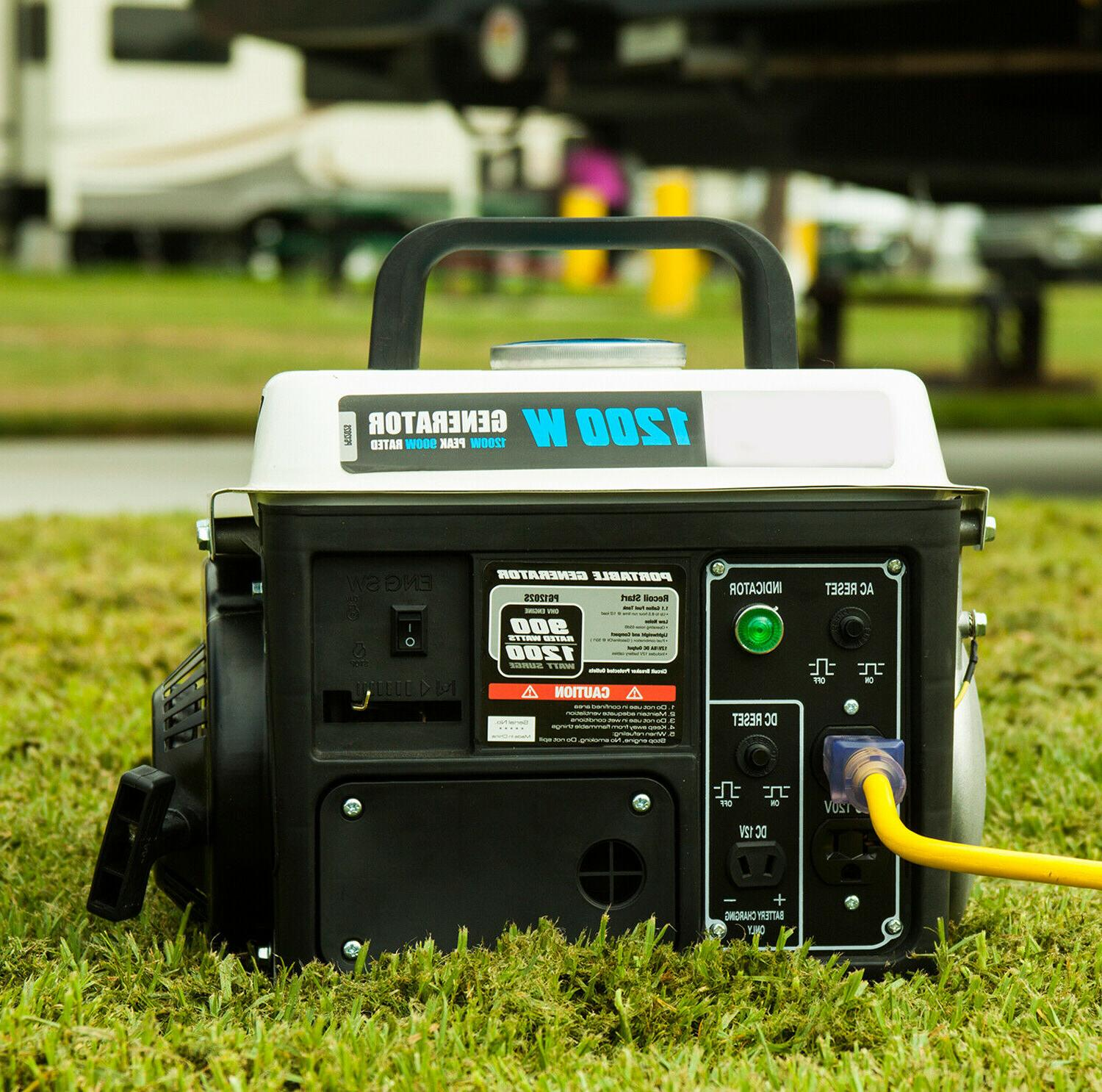 New Generator 1200W Rated 900w Portable Outdoor