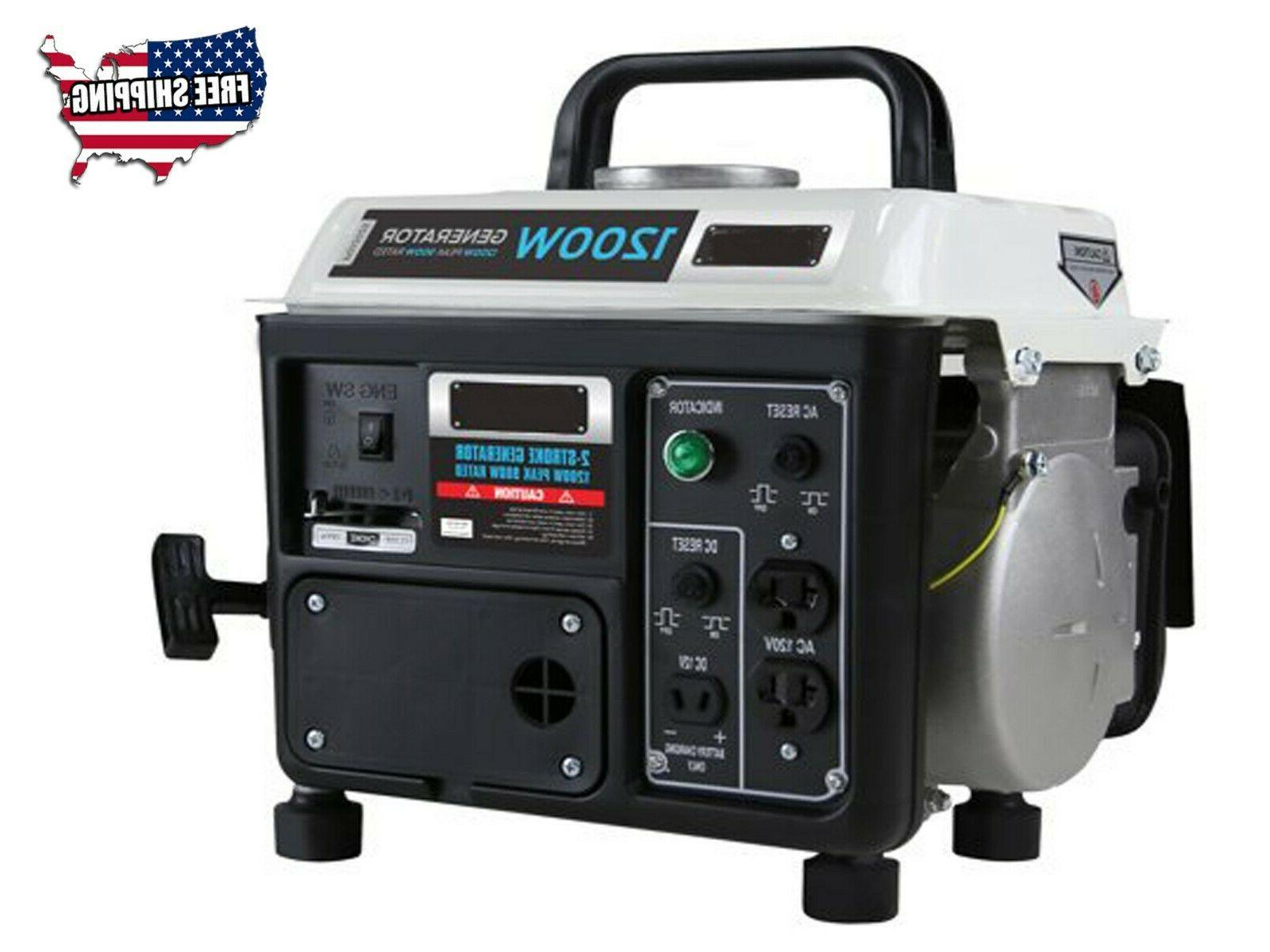 New Generator 1200W Rated Outdoor 1.2