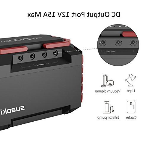 SUAOKI 150Wh/100W Camping Generator Lithium Power 110V Outlet, DC Ports, Ports, Flashlights for Road Trip Emergency