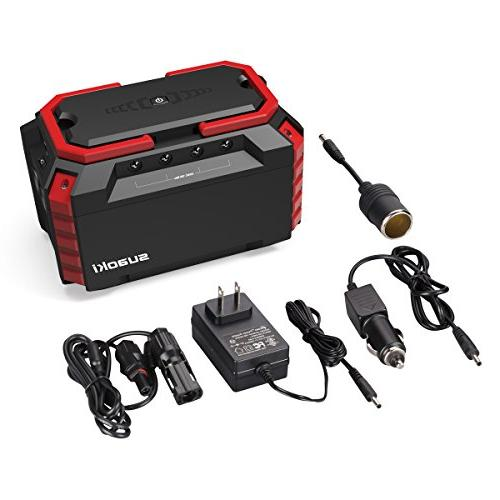 SUAOKI Portable Station, 150Wh/100W Camping Lithium Power with Dual 110V Outlet, DC Ports, Road Emergency