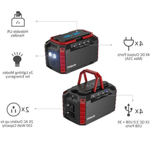 500Wh Generator Power Supply USB Station For