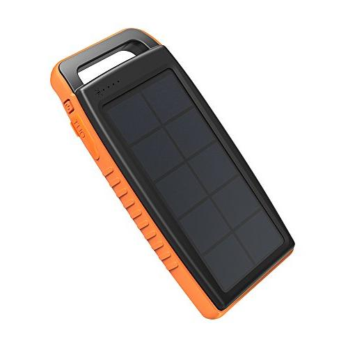 Solar Charger RAVPower 15000mAh Outdoor Portable Charger Power Dual USB External Pack