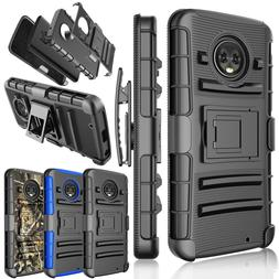 For Motorola Moto G6 XT1925 Belt Clip Holster Full Defender
