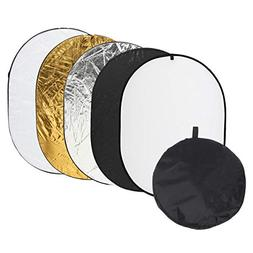 3547 inch Portable 5 in 1 Photo Reflector Photography Mulit