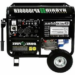 DuroMax Portable Dual Fuel Generator 10K Surge W 8000 Rated