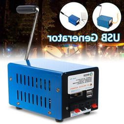 Portable Hand Crank Emergency USB Charger Generator Camping