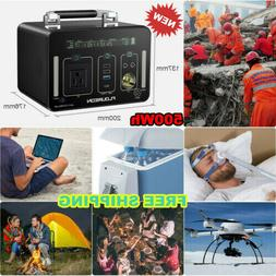 Portable Power Generator LiOn Charger Power Bank 500Wh AC/DC