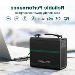 Portable Power Station 166Wh Solar Generator Outdoor Camping