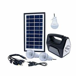 Rechargeable Solar Generator System Portable Kit Power Inver